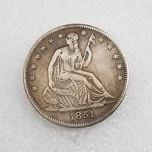 SeTing 1851 Antique Liberty Half-Dollars Coin - American Commemorative Coin - US Old Coins- Original Pre Morgan Uncirculated Condition LifeShop