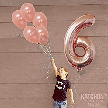 Pack of 12 Rose Gold 30th Birthday Balloons Party Decorations Supplies Foil Mylar and Latex Balloon Rose Gold 30 Balloon Numbers Match for Other Number Balloons for All Ages Large
