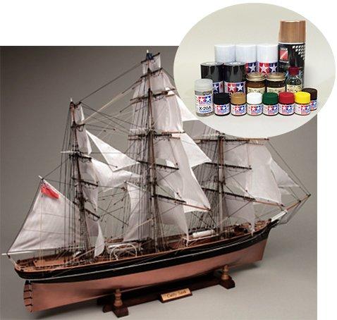 ウッディジョー/木製帆船模型 1/80 カティーサーク+塗料セット B00PC0IJ6K