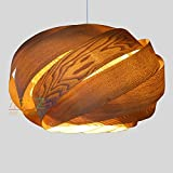 Handmade Nest Hanging 1-Light Pendant Lamp L, made of real Chinese ash veneer, a beautiful pendant for dining room and bedroom -unique design-pendant lighting-hanging lamp-ceiling lamp-home lighting