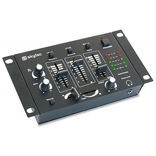 Skytec 172972 – Stm-2211b mezclador 4 canales negro