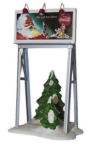 Dept 56 Coca-Cola Snow Village Vintage Billboard Gift for Thirst - 56 Dept Santa