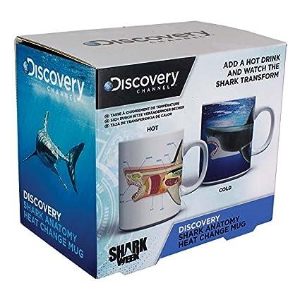 Descubrimiento Shark anatomía calor cambio taza, multicolor: Amazon ...