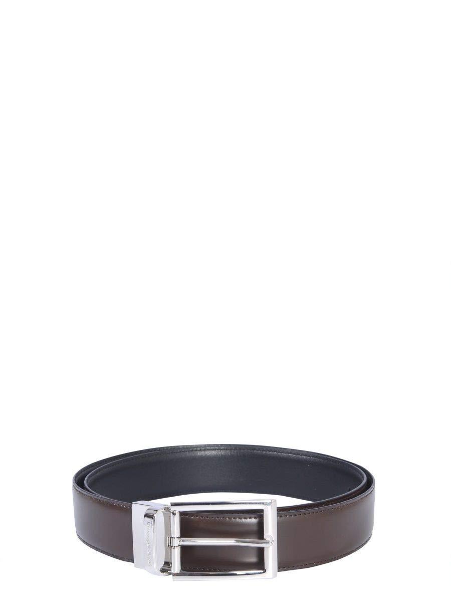 Z Zegna Men's 902ZBRADX2TDN Brown Leather Belt