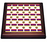 3dRose 777images Flag and Crest Patterns - The flag and Coat of Arms of the Republic of Armenia make a colorful patriotic Armenian pattern. - 8x8 Trivet with 6x6 ceramic tile (trv_63234_1)