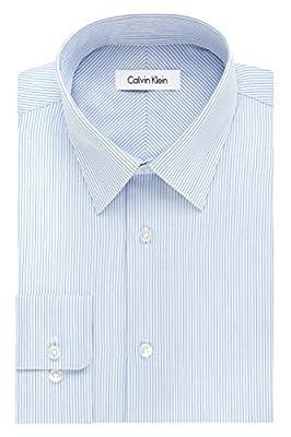 Calvin Klein Men's Regular-Fit Non-Iron Multi Stripe Shirt
