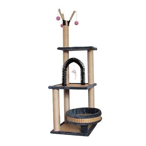 Pet supplies Árbol para Gatos Rascador con nidos, Torre del ...