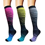 3/5/8 Pairs Compression Socks Women & Men - Best Medical,Nursing,Hiking,Travel & Flight Socks-Running & Fitness (S/M)