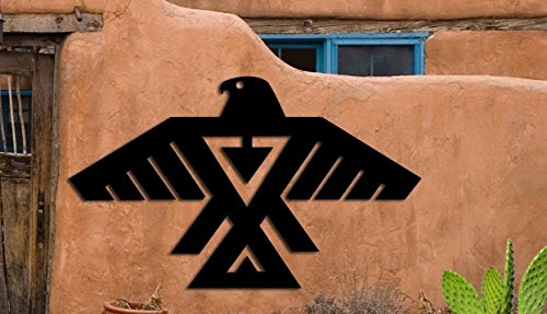 Eagle Symbol - Southwest Design - Home & Garden - Large (23 w x 14 h) Metal Art - Indoor - Outdoor Made USA