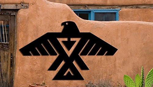 Eagle Symbol - Southwest Design - Home & Garden - Large (23 w x 14 h) Metal Art - Indoor - Outdoor Made USA