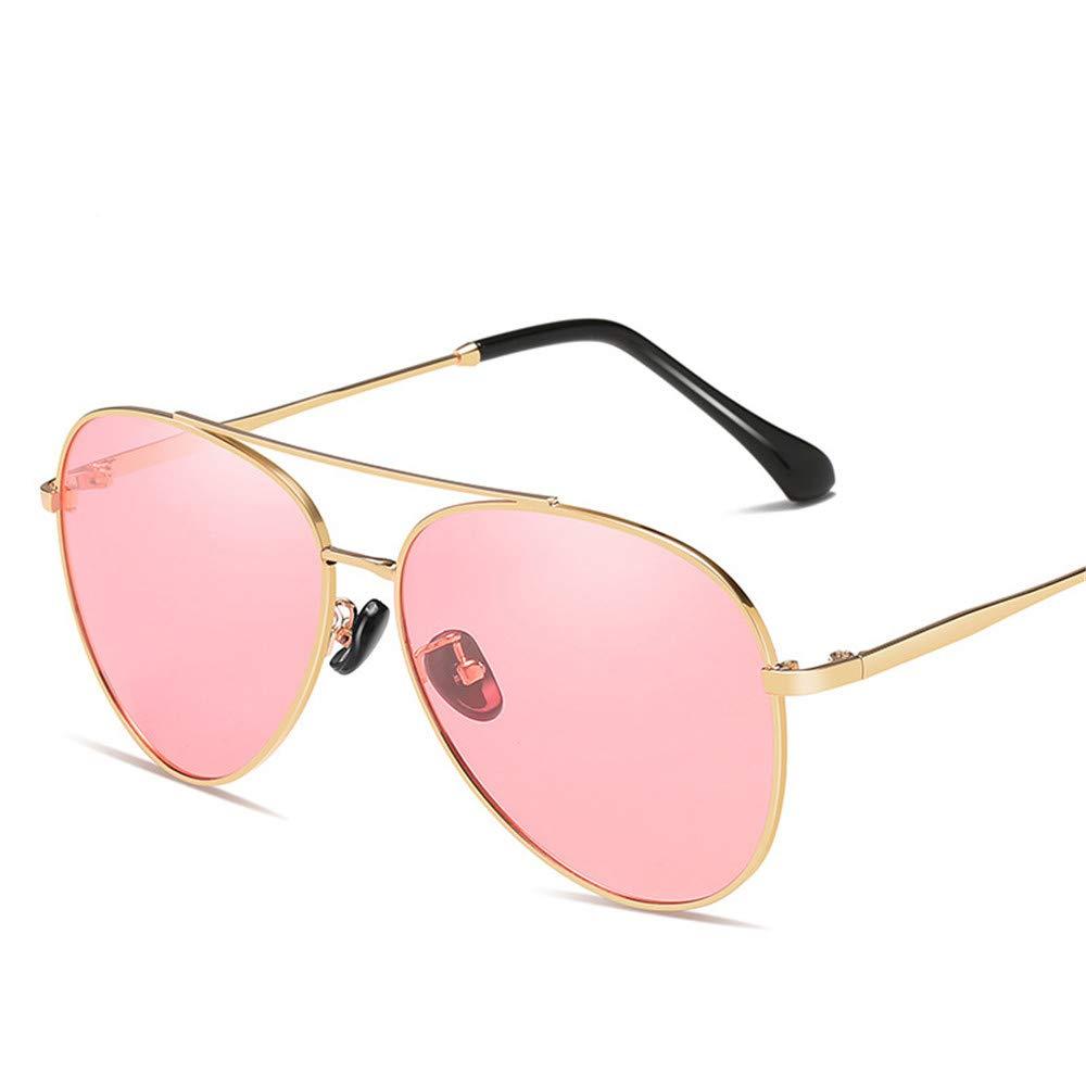 YFFS Men's and Women's Sunglasses Metal Sunglasses Driver Frog Mirror Sunglasses TAC Hd Polarized Lens (Color : Pink)