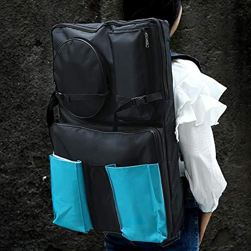 YSH Arts 5 PCS 4K Black Waterproof Portable Sketch Painting Board Bag Double Pocket Large Capacity Travel Shoulder Sketchpad Drawing Bag Office School Supply by YSH-US