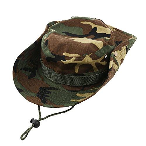 (WINOMO Fashion Unisex Adult Outdoor Sports Wide Brim Boonie Hat Cap Fishing Hat - Free Size (Green Camouflage))