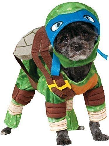 Pet Dog Cat Leonardo Teenage Mutant Ninja Turtles Halloween Film Cartoon Fancy Dress Costume Outfit Clothes Clothing (Medium, Blue (Leonardo)) -