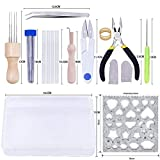 DABHAND Needle Felting Kit - Wool Roving 40 Colors Set - Starter Tool Kit,Wool Felt Tools with Foam Mat Included for Felted Animal Gift Fibre Yarn Needle Felting Supplies