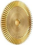 Boston Gear G486Y-G Bevel Gear, 4:1 Ratio, 0.313'' Bore, 32 Pitch, 64 Teeth, 20 Degree Pressure Angle, Straight Bevel, Keyway, Brass
