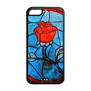 Hard Case Cover for iPhone 5c Strong Protect Case Cute Best Red Rose Flower Design Case Perfect as Christmas gift(5)
