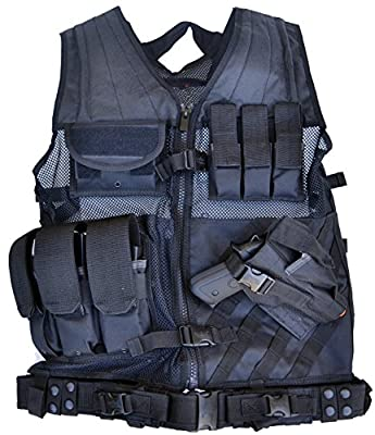 EXPLORER Tactical Vest Tactical Field Vest Outdoor Ultra-Light Breathable Combat Training Vest Adjustable for Adults Police, Security Officer