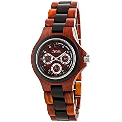 Tense Multi Eye Two-Tone Mens Northwest Wood Watch G4300SDR
