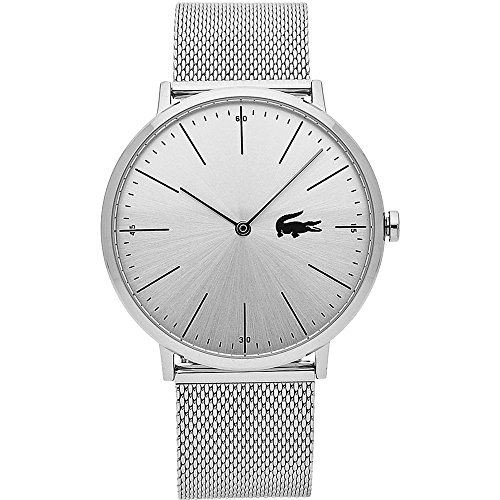 Lacoste Men's Moon Quartz Watch with Stainless-Steel Strap, Silver, 20 (Model: 2010901