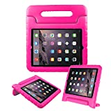BFTOP Compatible Kids Case for iPad 2 3 4, Lightweight Shockproof Handle Friendly Convertible Stand Cover Case for iPad 2, iPad 3rd Generation, iPad 4th Generation - Rose