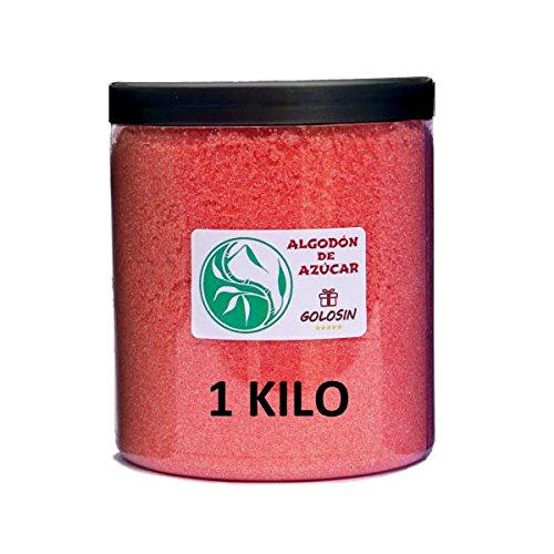 Zucchero filato. Zucchero speciale, adatto per macchine da zucchero filato. (1 Kg) Aroma e sapore: Fragola. Assenza di glutine. Golosin