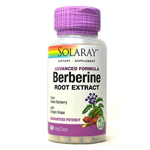 Solaray Advanced Formula Berberine Root Extract with Oregon Grape, 60 VegCaps