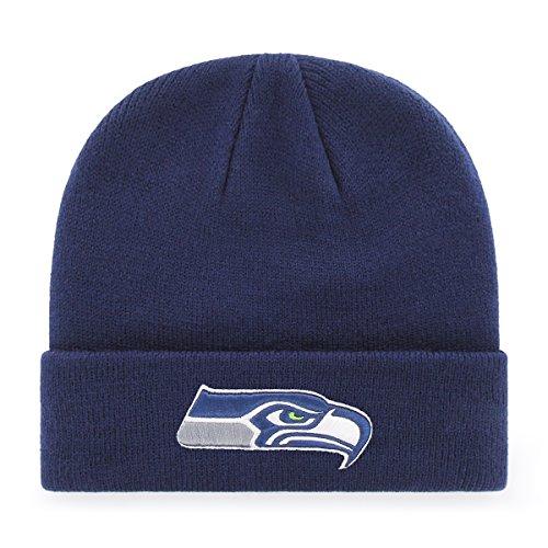 OTS NFL Seattle Seahawks Men's Raised Cuff Knit Cap, Team Color, One Size (Indian Seahawk)