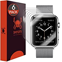Apple Watch 38mm Screen Protector, Skinomi® TechSkin (6-Pack) Full Coverage Screen Protector for Apple Watch 38mm Clear HD Anti-Bubble Film - with Lifetime Warranty