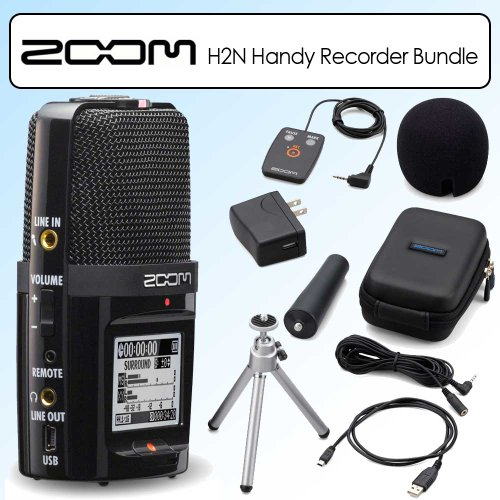 Zoom H2n Handy Handheld Digital Multitrack Recorder Bundle with APH-2n Accessory Pack ()