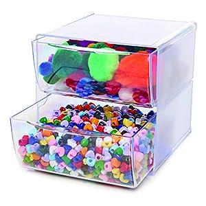 Deflecto Stackable Cube Organizer