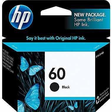 HP 60 Black Original Ink Cartridge (CC640WN#140) (3, Black) - Hewlett Packard Ink Cartridges 60