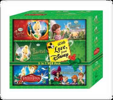 TINKERBELL AND LOST TREASURE, TINKERBELL GREAT FAIRIES RESCUE, PETER PAN, PETER PAN 2: RETURN TO NEVER LAND, TINKERBELL