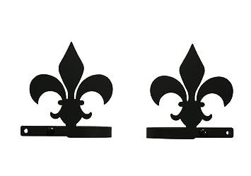 4 Inch Fleur De Lis Curtain Tie Backs