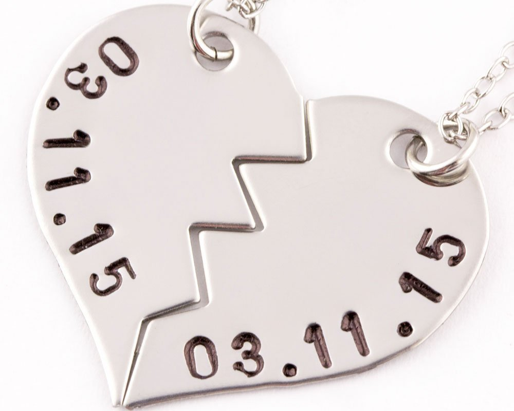 by aacd hand stamped wedding date made mills products necklace photo