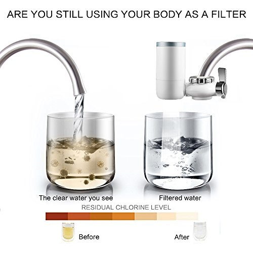 Faucet Water Filter, 8 Stage Water Filtration Faucet Mount, 7 Different Kinds of Interfaces, Suitable for Most Faucets, Easy to Install, 0.46gal/min/100kpa Large Filtration Discharge System White by Kaleidoscope (Image #3)