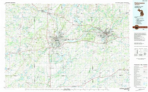 Kalamazoo MI topo map, 1:100000 Scale, 30 X 60 Minute, for sale  Delivered anywhere in Canada