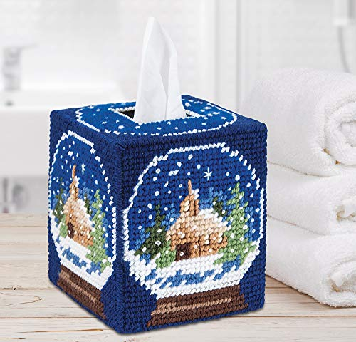 Mary Maxim 26813 Plastic Canvas Tissue Box Kit 5