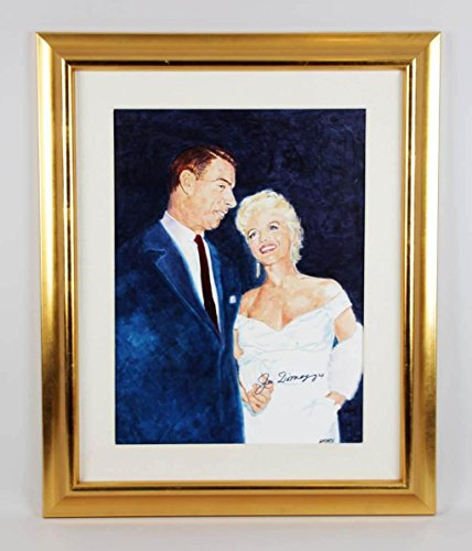 Joe DiMaggio Signed Painting w/Marilyn Monroe Display by Amore - COA - JSA Certified - Original MLB Art and - Dimaggio Joe Painting