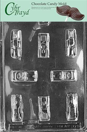Cybrtrayd D021 Cars Chocolate Candy Mold with Exclusive Cybrtrayd Copyrighted Chocolate Molding Instructions