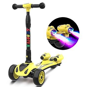 ZXCVB Scooter para Niños 2-3-6-15 Años Flash Spray Yo Coche