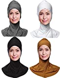 GladThink 4 X Womens Muslim Hijab Caps Islamic Scarfs Set No.5