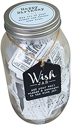 Top Shelf Blue Happy Birthday Wish Jar Personalized Gift Ideas For Him Unique And Thoughtful Gifts