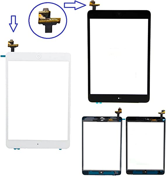 White Touch Screen Digitizer IC Board Button Flex for Ipad Mini 1 2 Generation