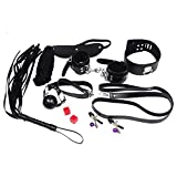 Clearance Sale 7 Pcs/ Set Play Sex Toys, Whip, Rope, Mouth Stuffed, Nipple Clamps, Mask, Handcuffs, Cuffs Under the Bed Restraint Systems