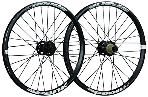 "Spank Spoon 28-20 20"" Bike Rims, Black"