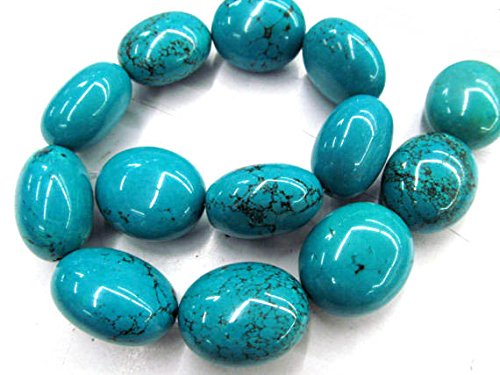 Natural Green Nugget Turquoise Stones - A+ 15X20mm Natural Turquoise Gemstone,blue\green\rainbow egg olive Nuggets Freeform Turquoise Beads necklace