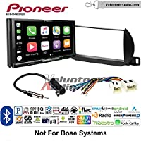 Volunteer Audio Pioneer AVH-W4400NEX Double Din Radio Install Kit with Wireless Apple CarPlay, Android Auto, Bluetooth Fits 2002-2004 Nissan Altima (Without Bose)