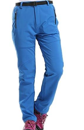 09957c5f6dc ARTFFEL-Women Outdoor Windproof Waterproof Softshell Fleece Snow Pants  Azure XS