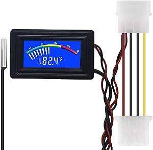 KETOTEK Digital Thermometer Temperature Meter Gauge Waterproof Sensor Probe Aquarium Car PC case Power Bank Temp Meter Celsius/Fahrenheit LCD Display °C/°F PC MOD (Digital Thermometer)